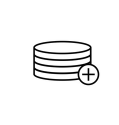 add to database icon vector image vector image