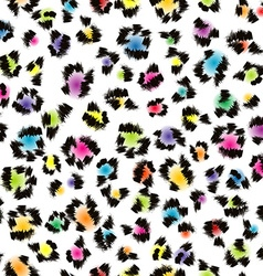 Colorful leopard fur background vector image vector image