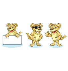 Jaguar Mascot happy vector image
