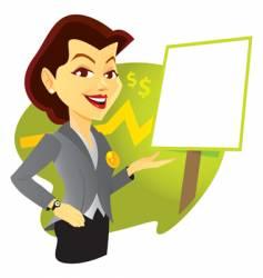 sales woman vector image vector image