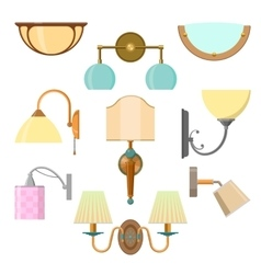 set of home light in flat style vector image vector image