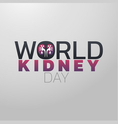 world kidney day icon design medical logo vector image vector image