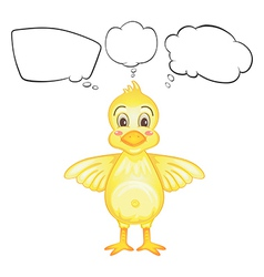 A yellow bird with empty callouts vector image