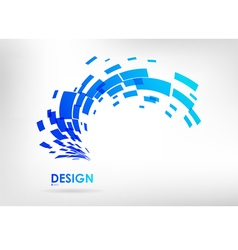 Abstract geometric element on a white background vector image vector image