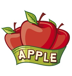 apple label design vector image vector image