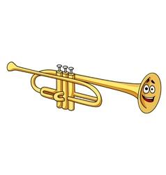 Cartoon brass trumpet vector image