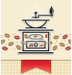coffee grinder with coffee vector image vector image