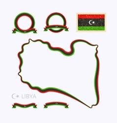 Colors of libya vector