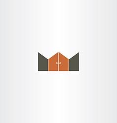 gate logo icon element vector image vector image