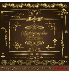gold calligraphic vector image