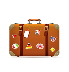 Isolated suitcase vector image vector image