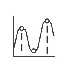 line chartsfrequency graphs line icon vector image
