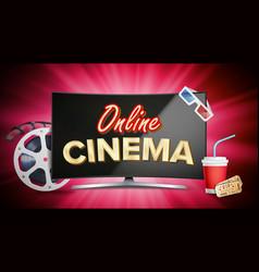 online cinema poster modern computer vector image