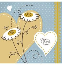 Scrapbook floral background vector image vector image