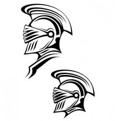 ancient warrior vector image vector image