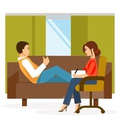 Cabinet psychologist vector image vector image