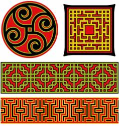 chinese graphic elements vector image vector image