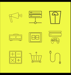 devices linear icon set simple outline icons vector image vector image