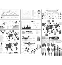 Infographic gray vector