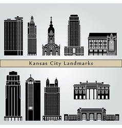 Kansas City landmarks and monuments vector image