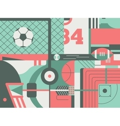 Sport abstract background vector image