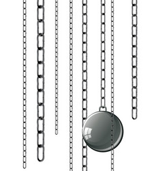 vintage prison shackles vector image vector image