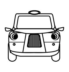 white british cab graphic vector image vector image