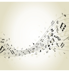 Abstract music4 vector image