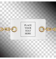Card chains vector image