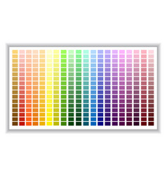 Color palette color shade chart vector