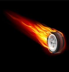 Fire wheel vector image vector image