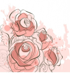 grunge roses vector image
