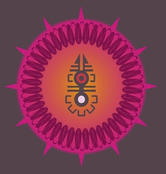 indian ornamental sun poster vector image vector image