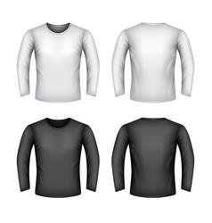male sweatshirt isolated on white vector image