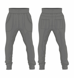 mens black sweatpants vector image