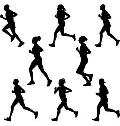 runner vector image