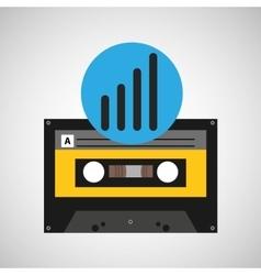 sound wave music cassette tape vector image