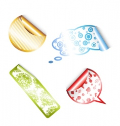 stickers with pattern vector image