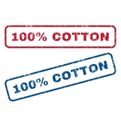 100 Percent Cotton Rubber Stamps vector