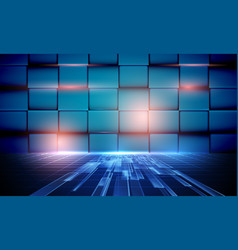 abstract background with high speed technology vector image