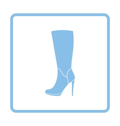 Autumn woman high heel boot icon vector
