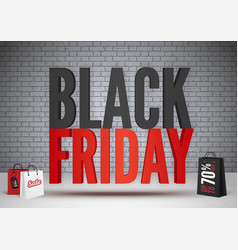 black friday sale 70 percent offer banner template vector image