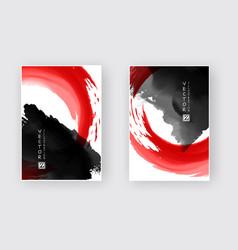 black red ink brush stroke vector image