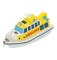 Boat ambulance icon isometric style vector