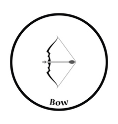 Bow with arrow icon vector image