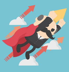 Businesman with jetpack vector
