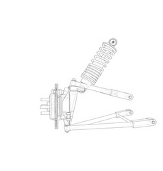 Car suspension with shock absorber vector