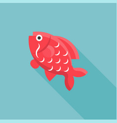 carp fish icon for chinese new year vector image