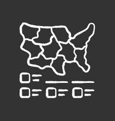 Cartogram chalk icon diagram usa map vector