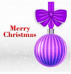 christmas ball background vector image
